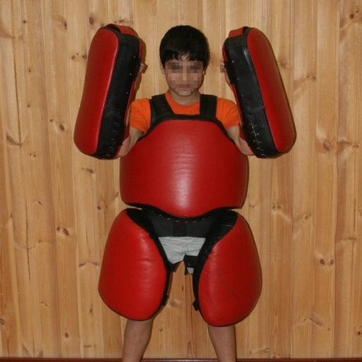 Детский комплект «Рыцарь» для отработки ударов (из натуральной кожи)