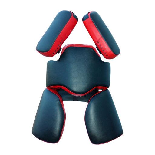 Комплект «Рыцарь» для отработки ударов / защита тренера Kanku-Proffi (с падами, натуральная кожа)