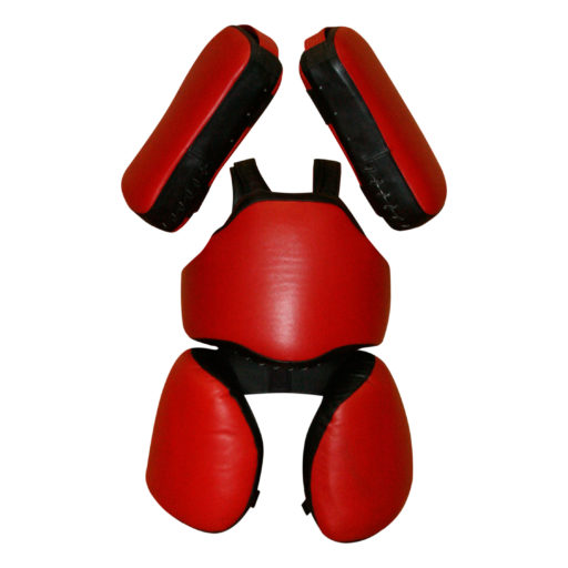 Детский комплект Kanku-Proffi «Рыцарь» для отработки ударов (с падами, натуральная кожа)