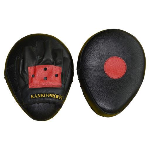 Изогнутые боксерские лапы Kanku-Proffi из натуральной кожи