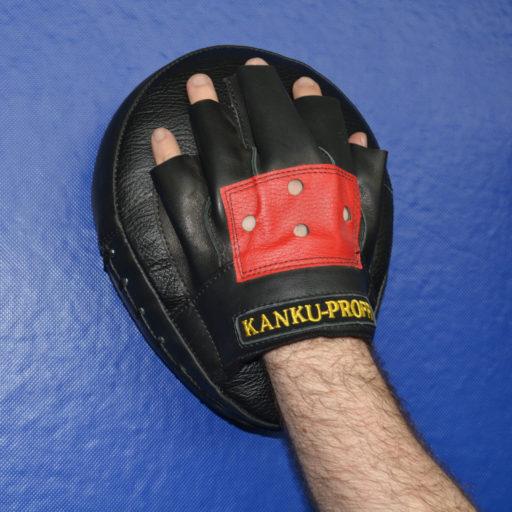 Изогнутые боксерские лапы из натуральной кожи (взрослые)