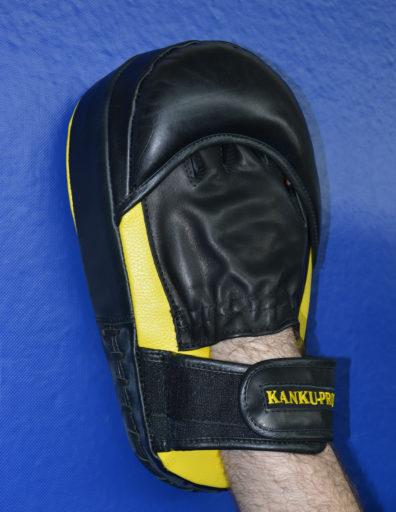 Удлиненные боксерские лапы из натуральной кожи